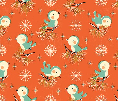 Vintage Christmas // by petite_circus fabric by petite_circus on Spoonflower - custom fabric
