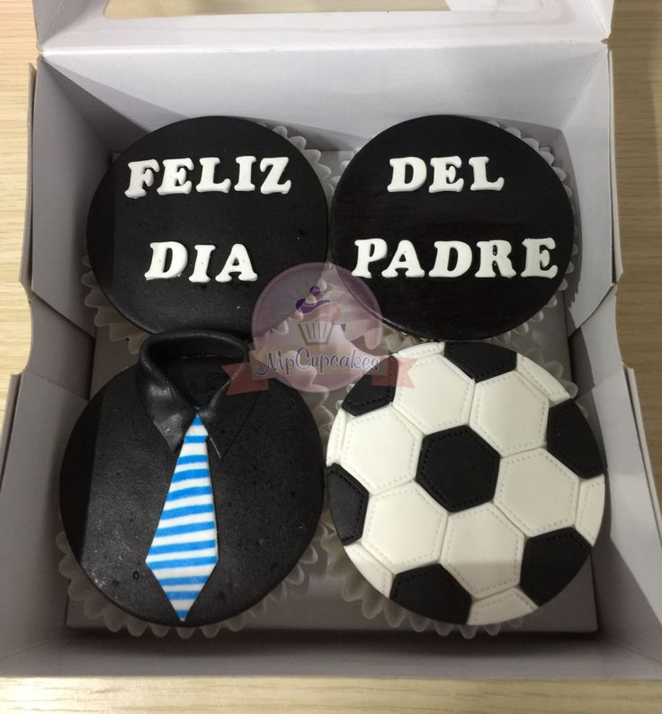 Cupackes para papa. Cupcakes dia del padre