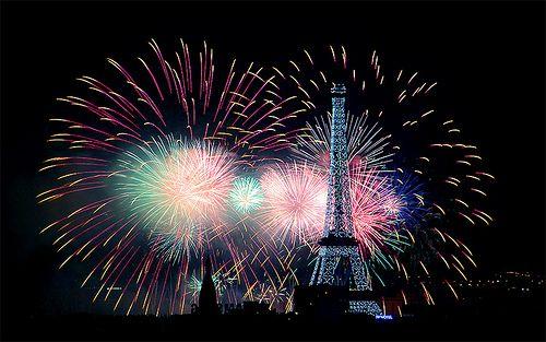 Paris 14 juillet 2013 Feu d'artifice Tour Eiffel