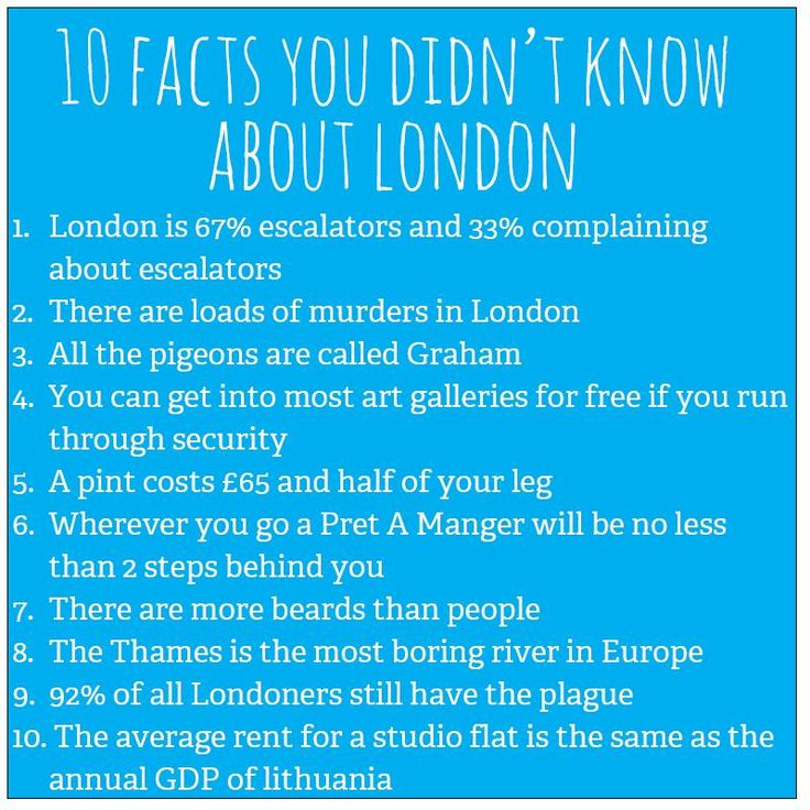 10 facts you didn't know about London