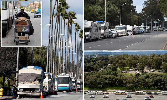 Skid Road How Cali S Homeless Turned Its Richest Areas Into Rv Parks California Rv Parks Homeless