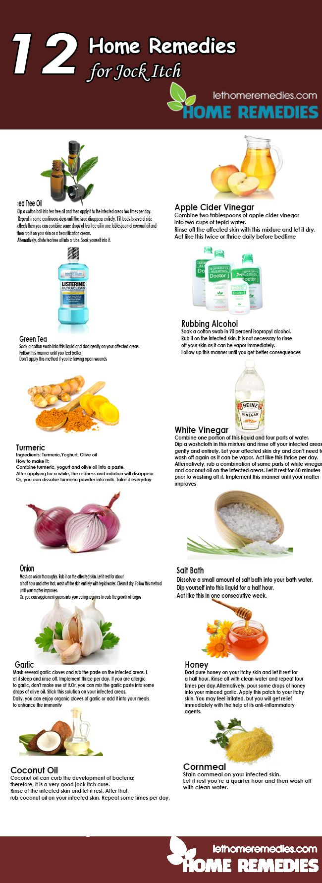 Without any intervention of doctors or chemical products, you can get rid of jock itch by following these home remedies for jock itch. Here are the top 12 home remedies for jock itch which you should implement. Try to mix some tips to say goodbye to this disease in no time.