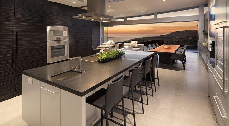 Fantástico diseño de cocina en isla!