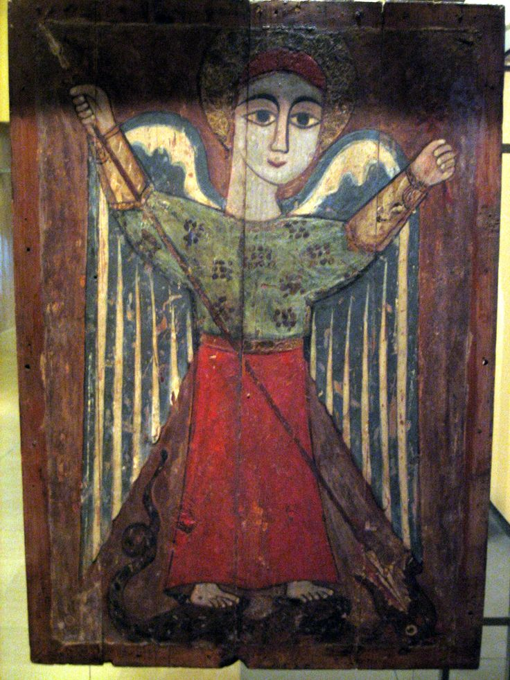 17th century Coptic icon of an Archangel | Byzantine and Christian Museum, Athens