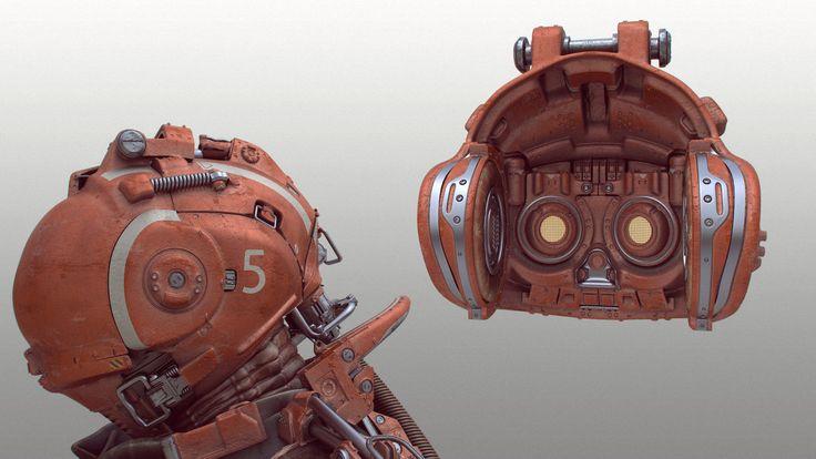 Helmet + Interior, Tor Frick on ArtStation at http://www.artstation.com/artwork/helmet-interior