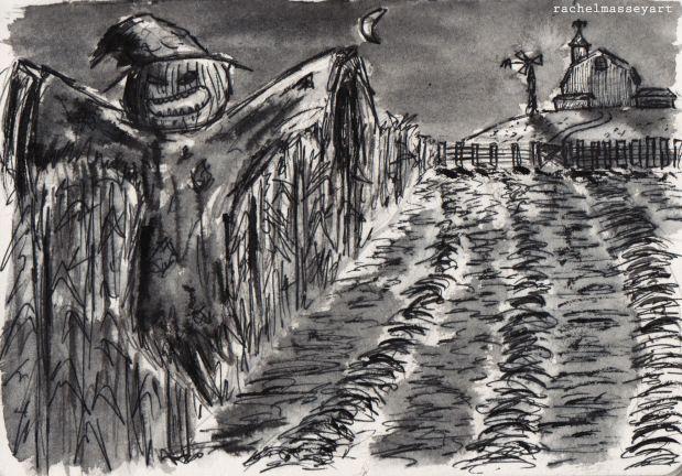 Inktober #29 | Scarecrow