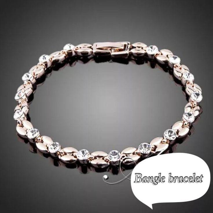 Silver and rose gold bracelet kod 737018