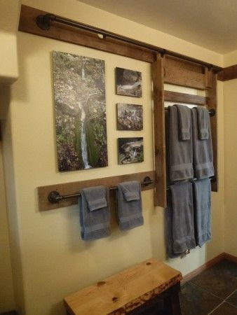 Best 25 Hanging Towels Ideas On Pinterest Tiny Master