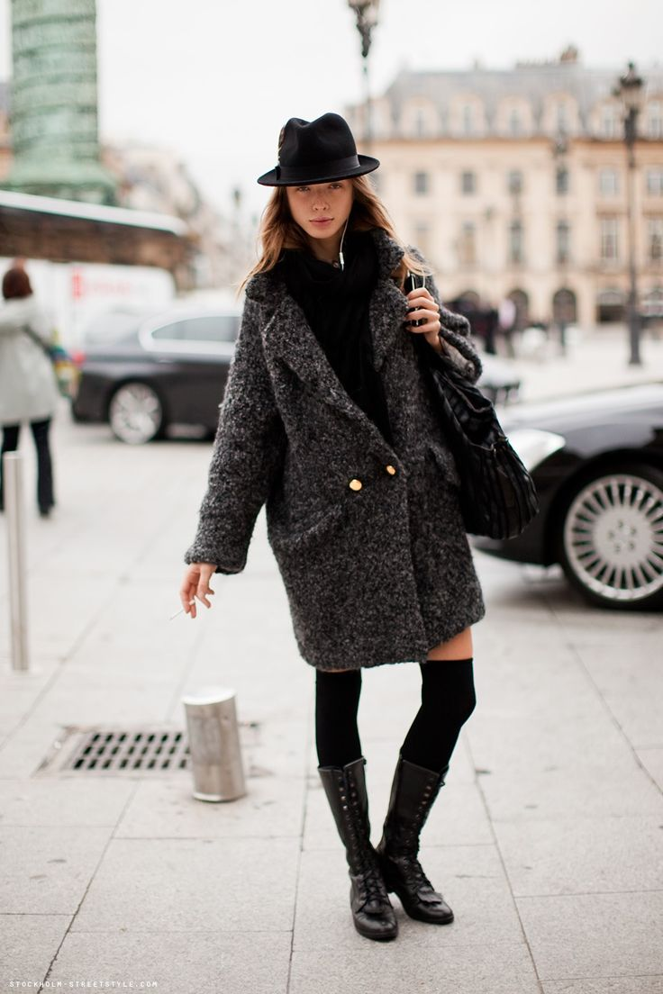 Черные гольфы (47 фото): с чем можно носить, с юбкой, с платьем, красивые женские модели