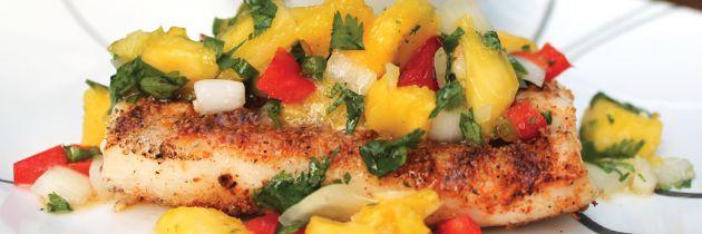 Grilled Mahi Mahi with Pineapple Salsa