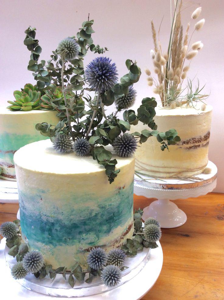 Single tier beach themed wedding cakes