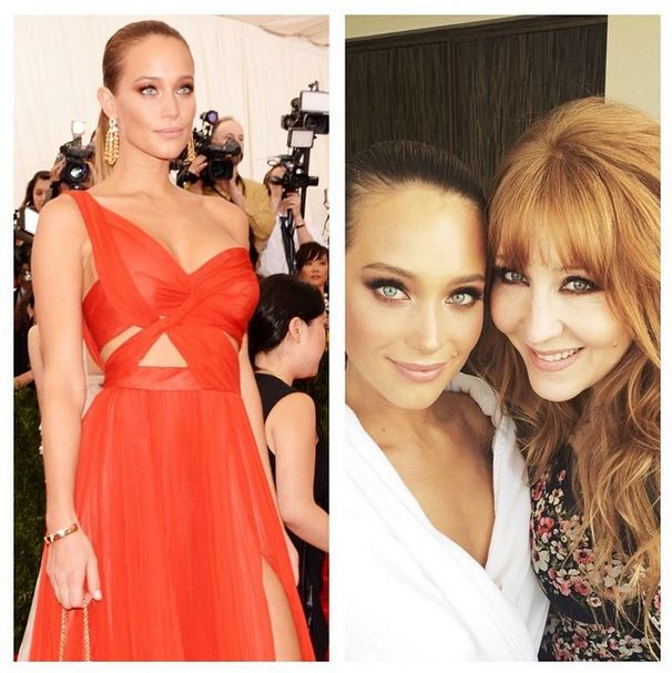Check out how Charlotte Tilbury created Hannah Davis' look for the 2015 Met Gala!