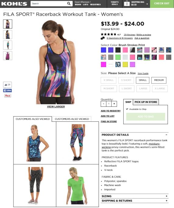 Related products are highly relevant to the existing item. Source: Kohls.com