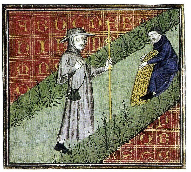 Le Pèlerinage de Vie Humaine (Guillaume de Digulleville). Looks 14th century. BNF?