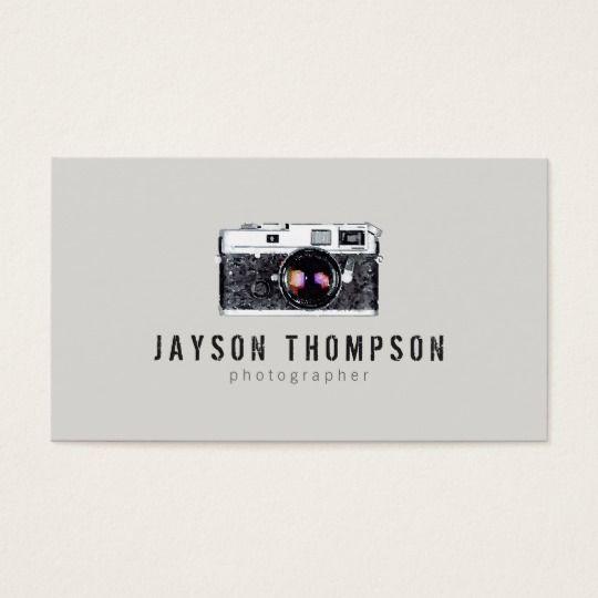 Photographer Vintage Camera Illustration Logo II Business Card