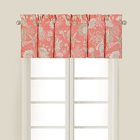 Natural Shells Window Valance In Coral