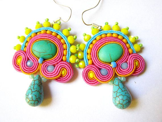 Soutache Earrings  Xihuitl