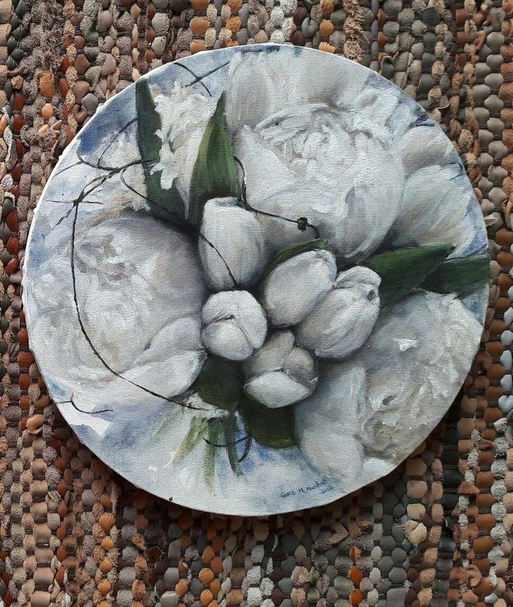 Bester wedding bride bouquet, oil on canvas, GMM, 2016