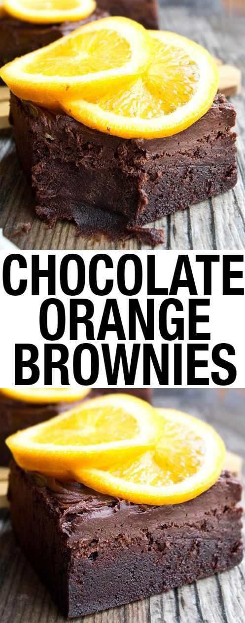 These easy CHOCOLATE ORANGE BROWNIES recipe from scratch are topped off with chocolate fudge frosting. They are rich and fudgy and packed with chocolate and orange zest!  From cakewhiz.com