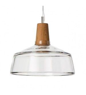 lampa industrial z bezbarwnego szkła