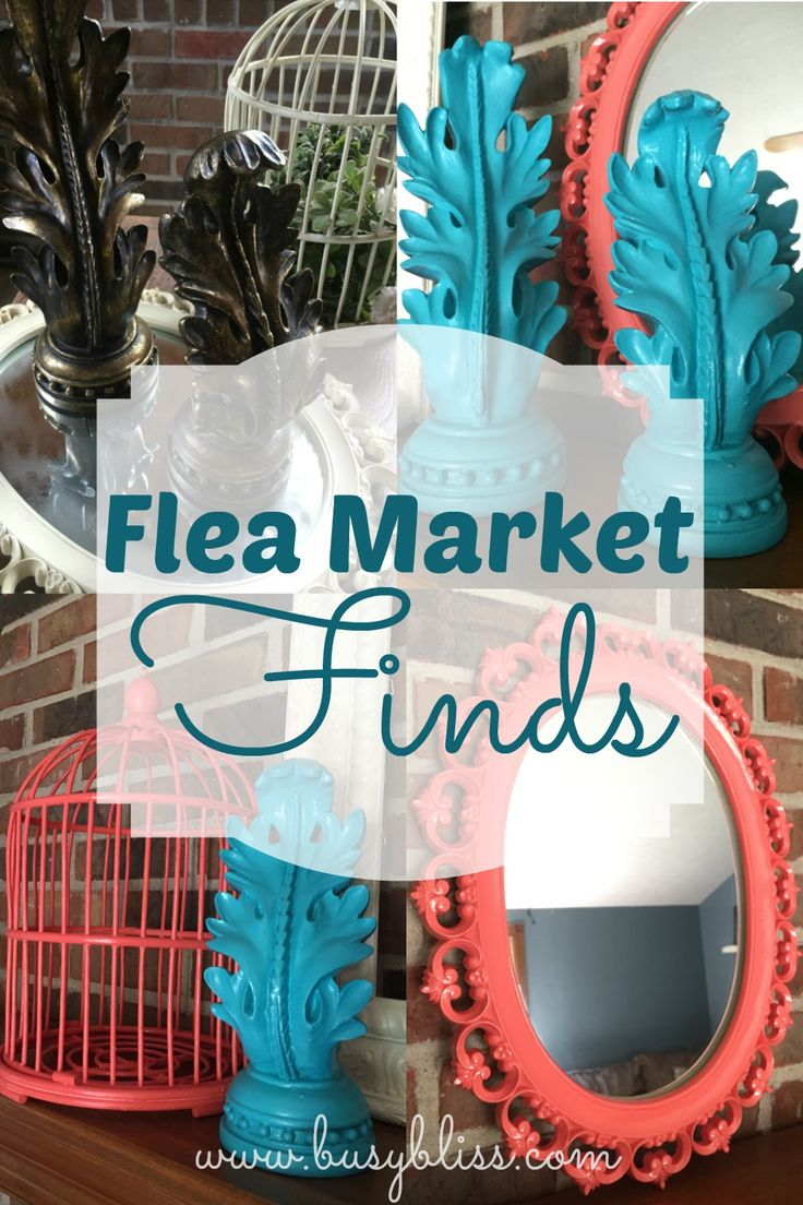 I love going to the flea market and seeing how I can update old items.  These are great finds!