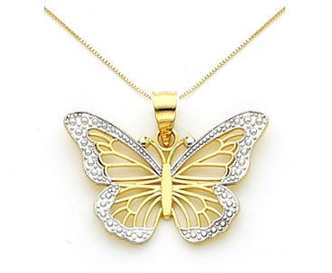Our beautiful 14k Gold Monarch Butterfly Necklace is perfect for the bride or bridesmaids at a butterfly wedding! Made in the U.S.A. with Free Shipping, matching Butterfly Earrings available too!