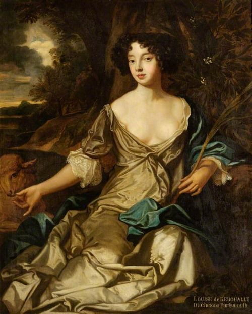 Louise de Keroualle (1649–1734), Duchess of Portsmouth, mistress of King Charles II By Peter Lely (after)