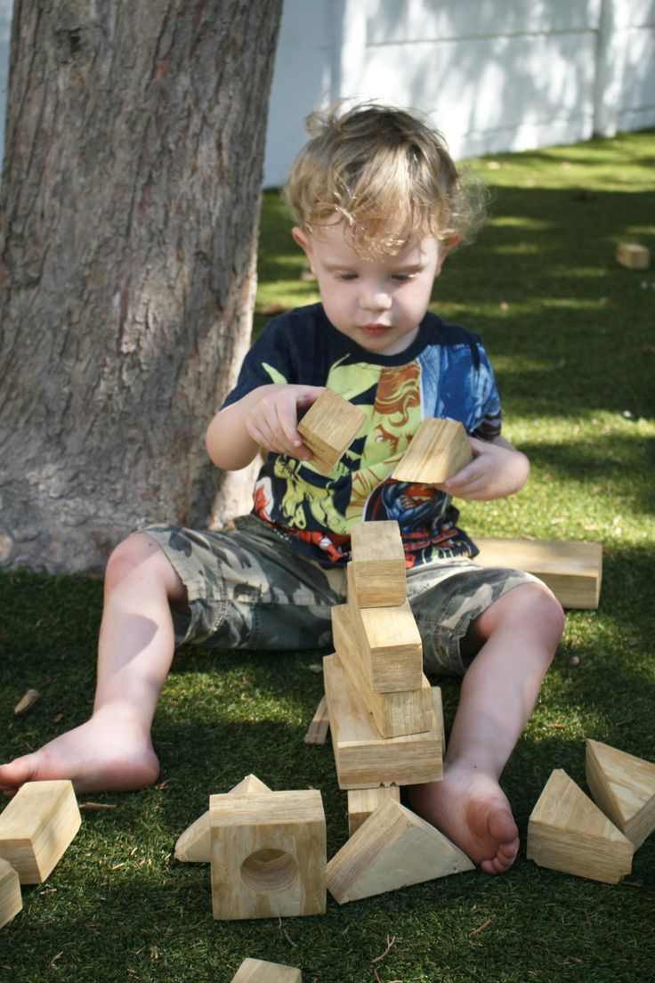 Fun with Building Blocks in the Christopher Robin Pre-Primary.