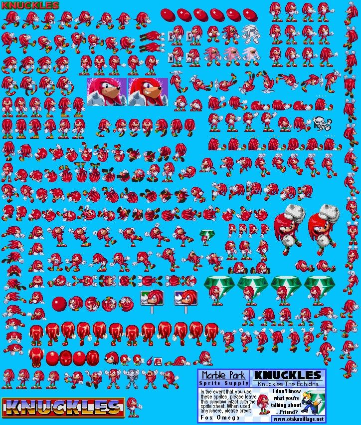 Knuckles' sprites in Sonic 3 & Knuckles | SONIC!!!!!!!! | Sonic 3