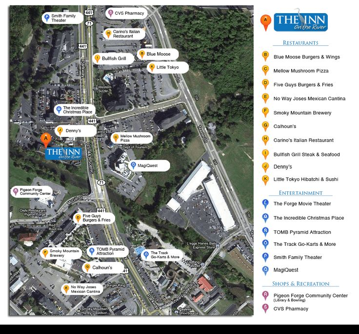 Pigeon Forge Attractions Map - Pigeon Forge Attractions Within Walking Distance!