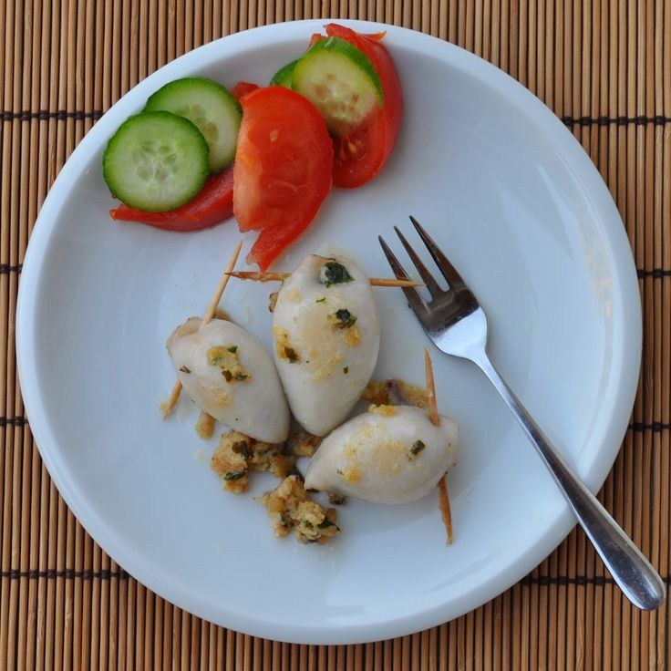 These calamari stuffed with squid tentacles, bread crumbs and Italian ...