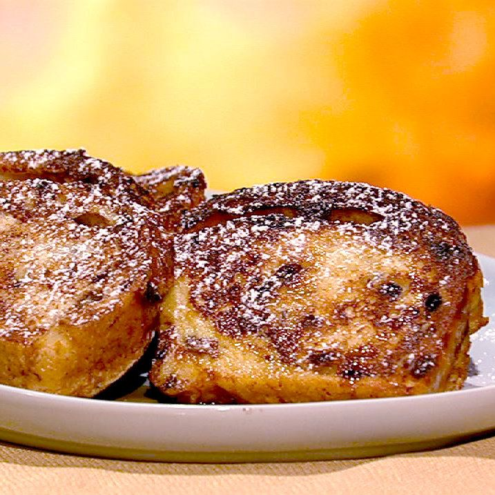 To die for!!!! the chew | Recipe  | Leo And Benno's Cinnamon Swirl French Toast from the chew!