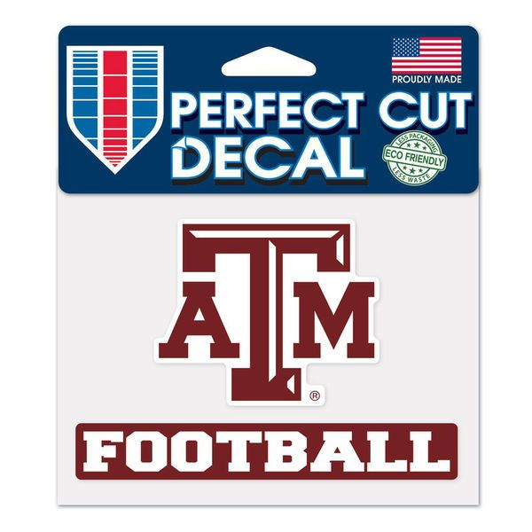 "Texas A&M Aggies WinCraft 4"" x 5"" Perfect Cut Sport Slogan Decal - $4.99"