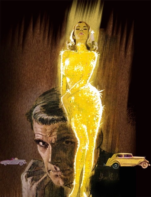 """Goldfinger,"" 1966.    Illustration by Robert McGinnis"