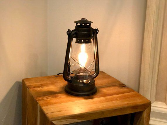 Electric Lantern Table Lamp With Inline Dimmer Control And Electric Lanterns Lantern Table Lamp Lamp