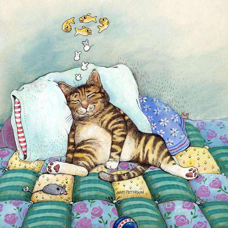 Рисунки с кошками прикольные, днем