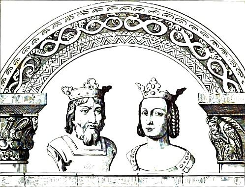 Hugh Capet and his wife Adelaide of Aquitaine - 25th Paternal Great Grandparents.  Parents of Robert II Capet, King of Franks.