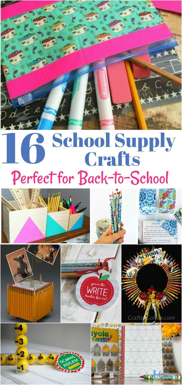 16 School Supply Crafts Perfect for Back-to-School…