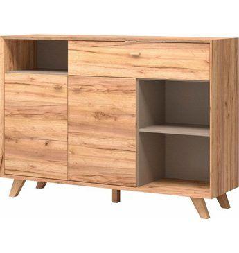 Sideboard »Calvi«, Breite 142 cm Jetzt bestellen unter: https://moebel.ladendirekt.de/wohnzimmer/schraenke/sideboards/?uid=be9bf41a-8729-54ca-bc7a-c21348785aab&utm_source=pinterest&utm_medium=pin&utm_campaign=boards #schraenke #wohnzimmer #sideboards