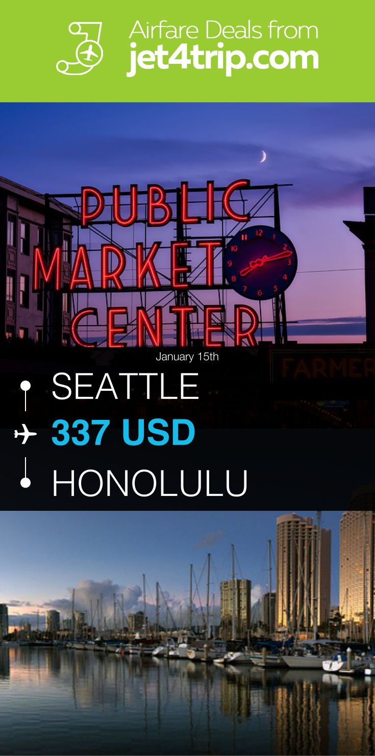 Flight from Seattle to Honolulu for $337 by United Airlines #travel #ticket #deals #flight #SEA #HNL #Seattle #Honolulu #UA #United Airlines