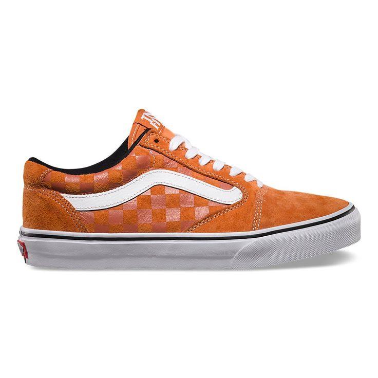 Vans TNT 5 Tonal Check/Burnt Orange - $70