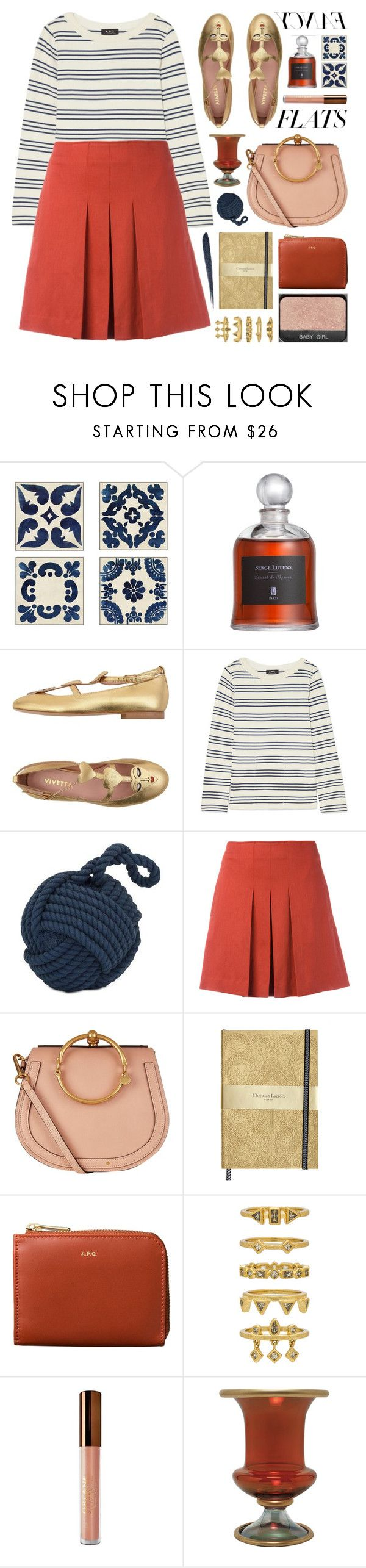 """""""6 days left to join (view description)"""" by jesuisunlapin on Polyvore featuring Pottery Barn, VIVETTA, A.P.C., IMAX Corporation, Chloé, Luv Aj, GET LOST, Orlane, Bobbi Brown Cosmetics and stripes"""