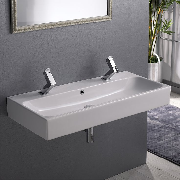 15 Best Images About Bathroom On Pinterest Trough Sink White Ceramics And Large Bathroom Mirrors