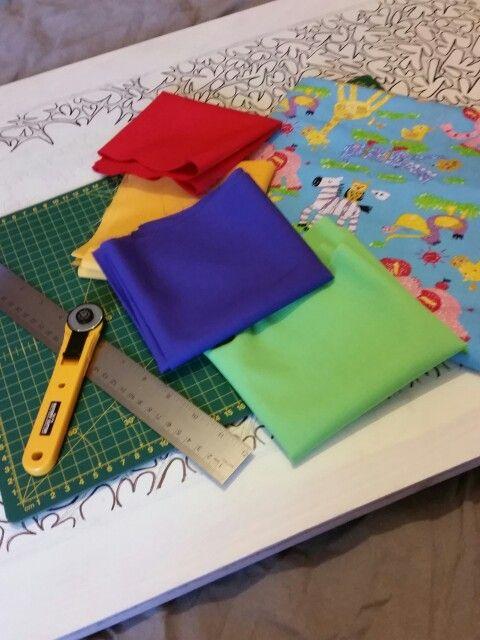 Eli baby boy quilt fabric