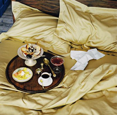 Just a weekend away eating breakfast in bed