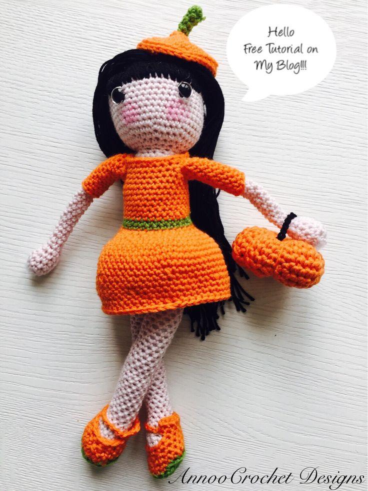 Tutorial Iniciacion Amigurumi : Natasha the fall princess doll free tutorial by
