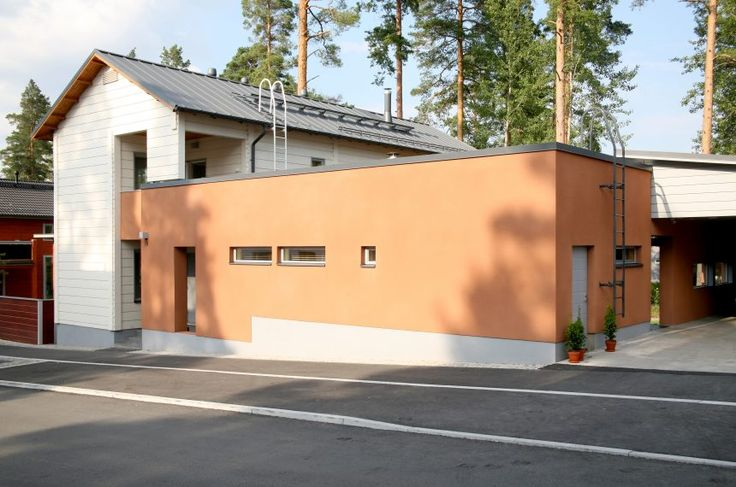 Honka Rock is an urban log home located in a densely populated area, designed for quality living in a sustainable way.