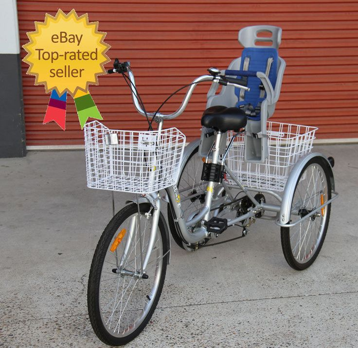 Trike Bike 24  Adult Tricycle with BABY SEAT - Carry your child SAFELY