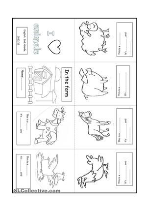 It's a small book to write the names of the animals and