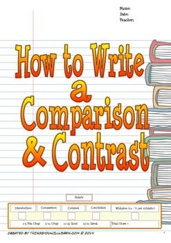A step by step, scaffolded approach for teaching your students how to write a four-paragraph comparison and contrast essay. There is a writing model from which students complete a graphic organizer to guide them in deconstructing the model essay. This process helps students to intuit the structure of a comparison & contrast essay.